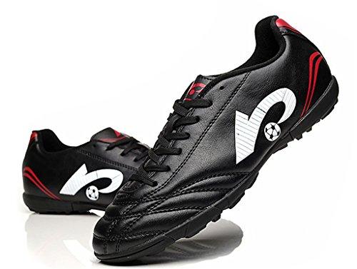 NEWZCERS scarpe da ginnastica tf calcio per le donne e gli uomini & Boys & Girls nero (22003)