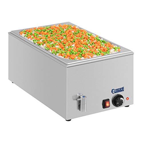 Royal catering - rcbm-1/1-150a - bagno-maria 1/1 -max 95°c - 230 volt - 1200 watt - profonditá 150mm - scarico- senza contenitore