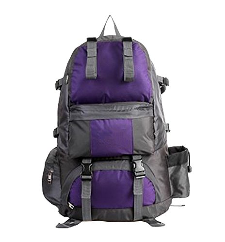 Yy.f Wanderrucksack 50L Rucksack Wasserdichte Anzüge Sport Im Freien Tagesrucksack Sonnenschirme Wandern Angeln Tourenrad. Multicolor Purple