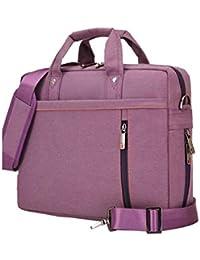 23b8a1e261 Borsa per laptop, valigetta multifunzionale da 13-17 pollici, borsa  spaziosa per donne e uomini, resistente tracolla…