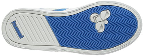 Hummel SLIMMER STADIL CANVAS LO, Sneakers basses mixte enfant Bleu - Blau (Methyl Blue 7672)