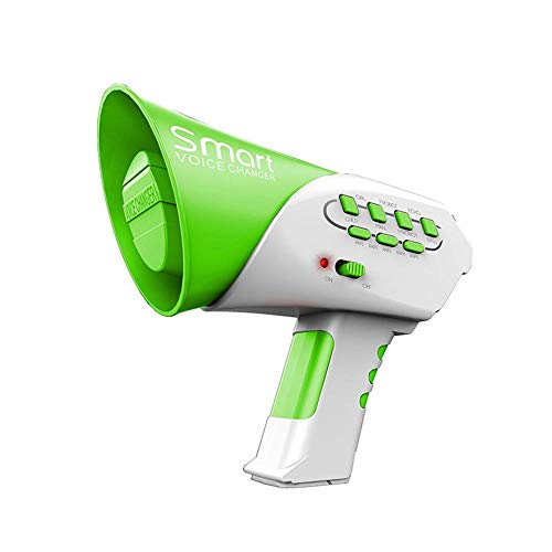 KOBWA Voice Changer for Kids with Megaphone Function, LED Lights and 7 Different Sound Effects