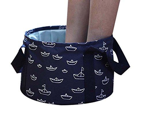10 L Portable Pliable Bucket Kit de Lavage Pliable Sink, Bleu Foncé