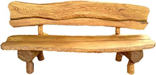 Gartenbank aus Massivholz | Parkbank aus Akazien- und Tannenholz (Eiche)