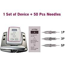 Guapa Micropigmentación Tattoo Machine Kit Máquina de maquillaje permanente con 50 piezas Micro Needles para cejas