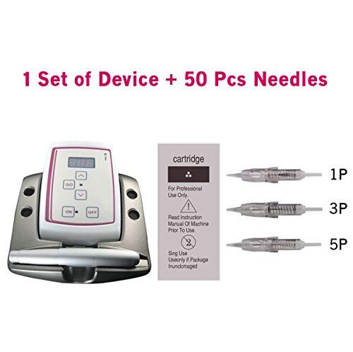 Guapa Digital Multifunktions Permanent Augenbraue Lippe Eyeliner Make-up Tattoo Pen Maschine Kit mit digitaler Steuerung(Machine+50pcs needles)