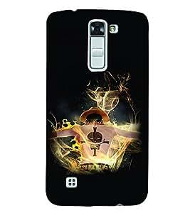 PrintVisa Cool Boy Fire 3D Hard Polycarbonate Designer Back Case Cover for LG K7