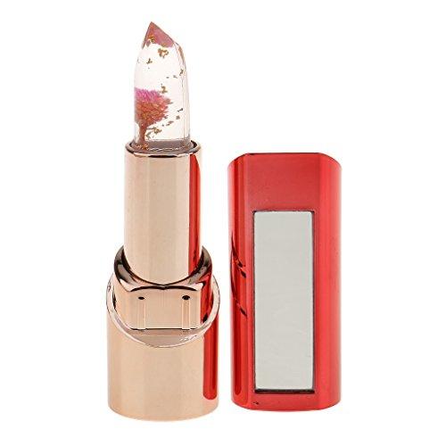 MagiDeal Fleur Gelée Rouge à Lèvres Couleur Changeant à Température Hydratante Longue Durée Étanche Magique Parfum Fruitée - # 03
