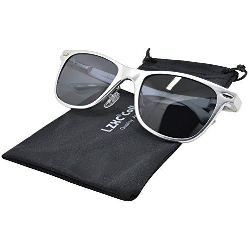 LZXC Verspiegelte polarisierte Sonnenbrille Revo Fashion Vintage Style Unisex AL-MG Metallart UV400 Schutz Sonnenbrille