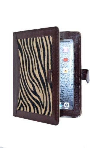 Smart Range iPad 23& 4braun & Zebra Haut Fell Luxus echtes Leder Cover Case Ständer I Pad 2 Zebra-haut
