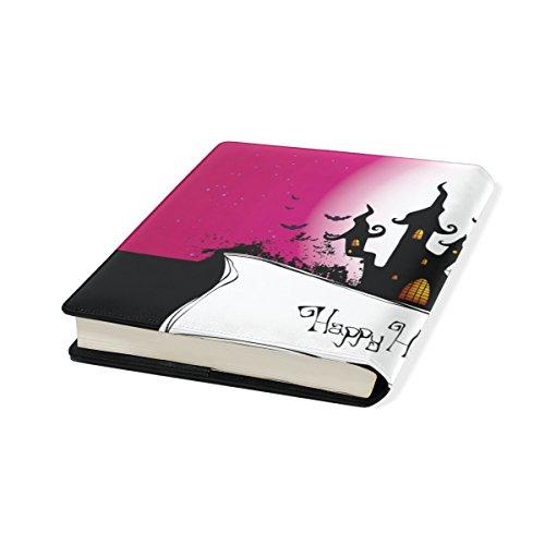 bennigiry Happy Halloween schwarze Katze Fledermaus dehnbar Buch umfasst für Kinder, passend für die meisten 22,9x 27,9cm Hardcover lehrbüchern. wiederverwendbar selbstklebend gratis