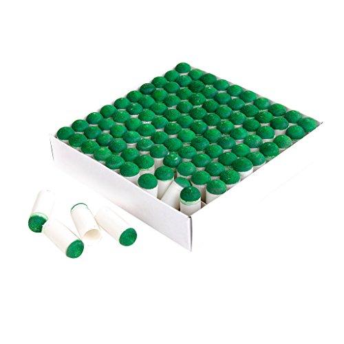 100 Pezzi di Spinta Sulle Punte Biliardo Stecca Bastone Slip-on Suggerimenti, 9mm/10mm - Verde/Bianco, 9mm
