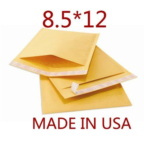 200 #2 8.5 x 12 Kraft Bubble Mailers Padded Shipping Envelopes Bags 8
