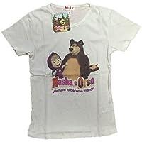 T-shirt Bimba Masha e Orso *23148 Maglietta Manica Corta Bambina