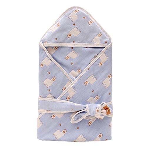 WYT Kuschlige Babydecke Pucktücher Mit Kapuze Baumwolle Weich und Gemütlich Einschlagdecke 90cmx90cm