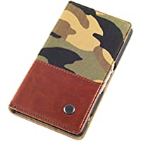 QIOTTI Book Urban Camou - Funda para Sony Xperia Z2, marrón
