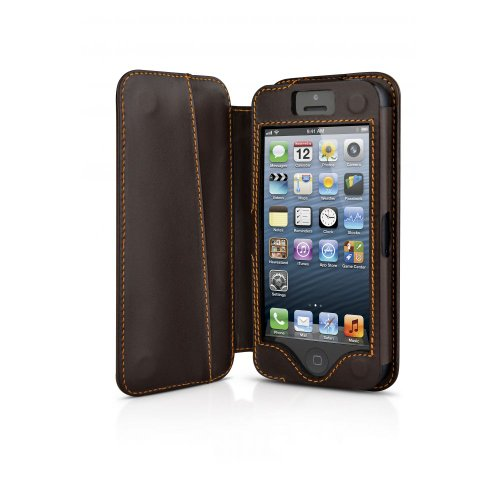 Beyzacases BZ23769 Housse Folio en cuir pour iPhone 5 Natural Brown Natural Brown