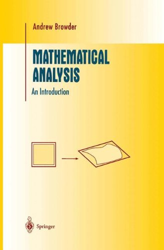 Mathematical Analysis: An Introduction (Undergraduate Texts in Mathematics)