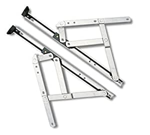 """Charnières à friction - pour fenêtre à l'italienne en PVC rigide - épaisseur 13 mm/longueur env. 60 cm (24"""") - haute qualité"""