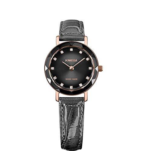 Jowissa Aura Swiss J5.647.S - Reloj de Pulsera para Mujer, Color Gris, Negro y Plateado
