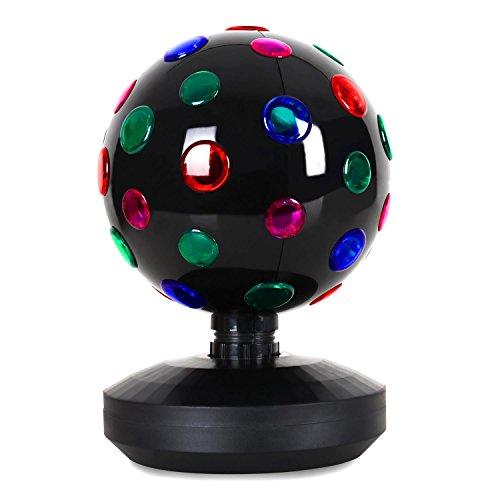 oneConcept Disco-Ball-8-B • Discokugel • LED-Leuchtkugel • Lichteffekt • 20 cm Durchmesser • motorisierte Drehbewegung • 9 LEDs •...