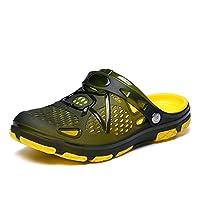 Mens Clogs Lightweight Non Slip Garden Kitchen Hospitcal Beach Yard Pool Shower Summer Sandals Black Yellow Blue UK6.5-10 Yellow 43