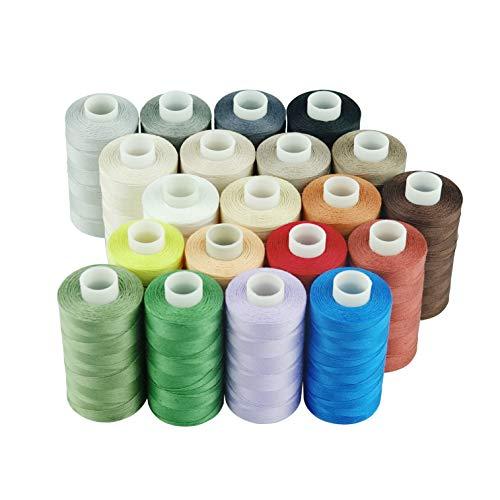 Simthread Baumwoll Nähgarn Quiltgarn für Nähen und Quilten Maschinen - 550 Yards/Spule, 20 Farben