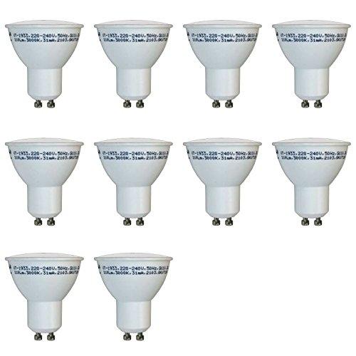 ZoneLED SET, 10 x LED Bombilla GU10, 3W = equivalente incandescente 25