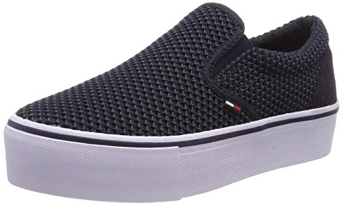 Hilfiger Denim Damen WMN Slipon Textile City Sneaker, Blau (Midnight 403), 39 EU (Casual Schuhe Frauen)