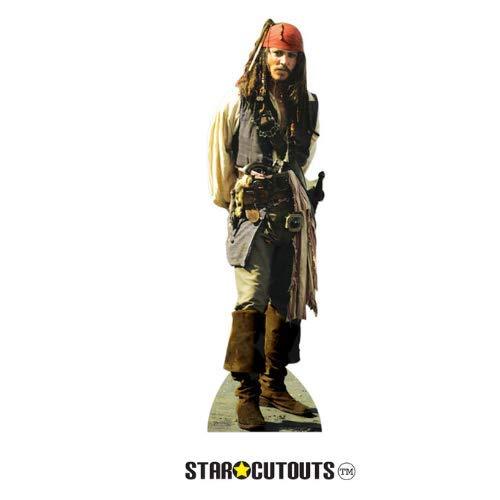 Captain Jack Sparrow mit rotem Hut Pappaufsteller Aufsteller Standup Cardboard Cutout (95 cm)