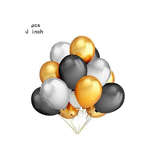 Neue glänzende Metallperlen-Latex-Ballone starkes Chrom-Metallic färbt aufblasbare Luft-Kugel-Kugel-Geburtstagsfeier-Dekor chirstmas, 30PCS B