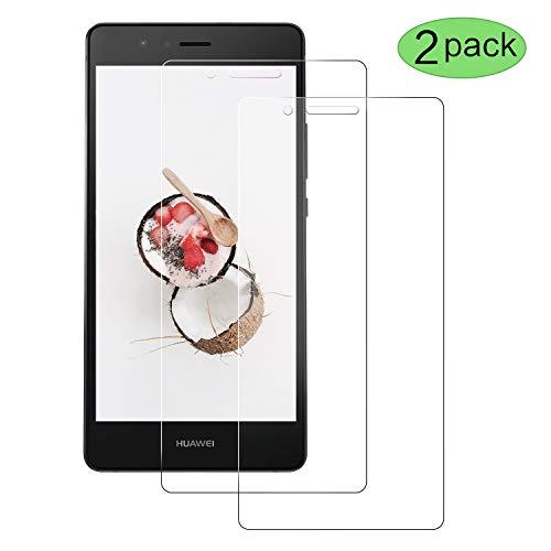 CNXUS Panzerglasfolie Kompatibel mit Huawei P9 lite 2016, Huawei P9 lite 2016 Panzerglas [2 Stück][Bubble Free] [Anti-Öl][Kratzschutz] Einfache Installation HD Klar Bildschirmschutzfolie