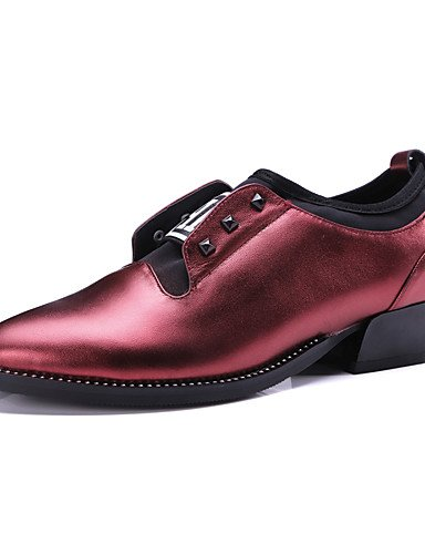 WSS 2016 Chaussures Femme-Extérieure / Bureau & Travail / Habillé / Décontracté-Noir / Bordeaux-Gros Talon-Confort / Nouveauté / Gladiateur / burgundy-us6 / eu36 / uk4 / cn36