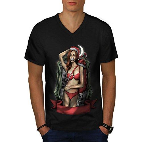 ann Claus Sexy Herren S V-Ausschnitt T-shirt | Wellcoda (Nackt Frau Claus)
