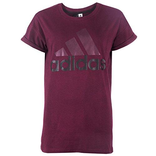 adidas S97220 T-shirt für Damen, Rot (Granat / Schwarz), 2XS (Damen Shirt Granat)