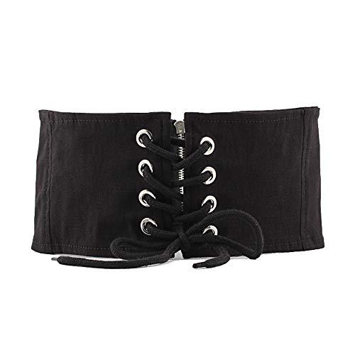 DWIN [X85] Neue Art Frauen elastische Tuch Ceinture, Nicht Leder Schärpe, geeignet für alle Jahreszeiten, perfekte Spiel Kleid, Uniform, Strampler, formelle Kleidung, Frack - schwarz 1 -