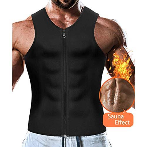 AidShunN Men Waist Trainer Chaleco Neopreno Adelgazante Body Shaper Sport para Perder Peso Body Shaper Sauna Tank Top