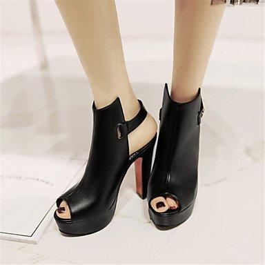 LvYuan Sandali-Ufficio e lavoro Formale Casual-Innovativo Alla schiava Club Shoes-Quadrato-Finta pelle-Nero Giallo Bianco Black