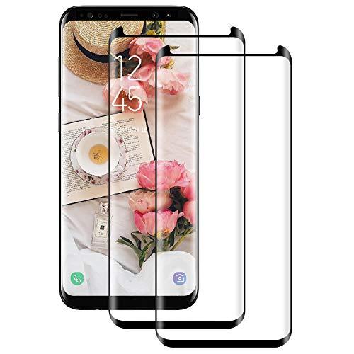 Panzerglas Schutzfolie für Samsung Galaxy S8 Plus [2 Stück], 9H Härte HD Panzerglasfolie für Galaxy S8 Plus, Kratzfest, Anti-Bläschen, 3D Vollständige Abdeckung,Displayschutz Folie für S8 Plus