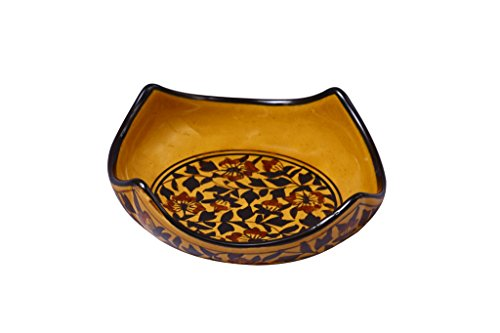 Serving Bowl Ceramic/Stoneware in Brown Sehra (7 inches) (1 pc) Handmade By Caffeine
