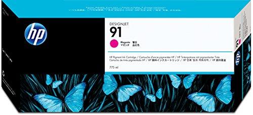 HP 91 Magenta Tintenpatrone, pigmentbasiert, 775 ml