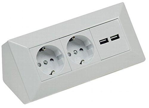Aufbau Steckdosenleiste 2fach mit USB weiß