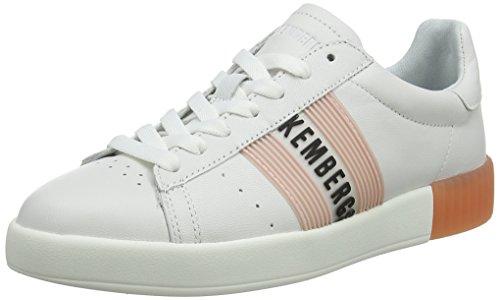 Bikkembergs Damen Cosmos 2130 Sneaker, Weiß (White/PINK 830), 39 EU