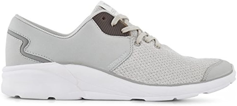 Supra Mens Noiz Light Grey White Shoes