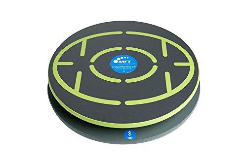 Challenge Disc 2.0, e Balance Board per Bluetooth mit Smartphone verbinden inkl. App (Digitaler Trainer und lustige Spiele) I Therapiekreisel aus Holz mit Sensorchip I 44 cm Ø