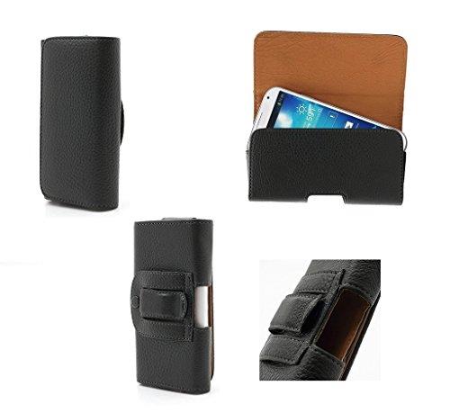"DFV mobile - Case belt clip synthetic leather horizontal premium for =>      APPLE iPhone 6s / [4,7""] > Black Black"