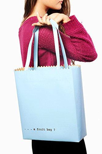 Regenesi Fruit Bag, Shopping Bag, Borsa design in pelle rigenerata prodotta a mano in Italia Azzurro