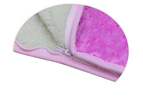 ROSA KINDER BABY Kuscheldecke Wickeln Wickeltisch Decke Wolle Schlafsack für Neugeborene Baby