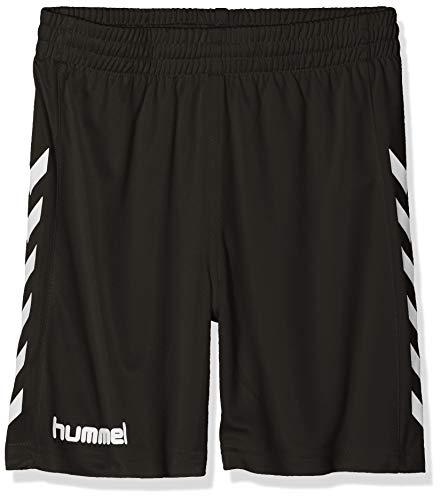ose kurz-CORE Poly Shorts-Trainingshose Herren hohe Bewegungsfreiheit-Laufshorts atmungsaktiv in Schwarz-Funktionshose, Black Pr, 140-152 ()