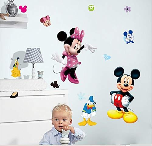 (Dekoration für ein Kinderzimmer Mickey Maus Minnie Maus Pluto Hund Donald Duck Wandaufkleber Raumdekorationen Wanddeko)
